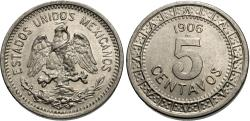 World Coins - Mexico, United States of Mexico. 1906. 5 centavos. Unc., a couple of hairlines on the eagle's leg.