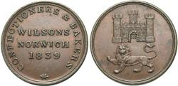 World Coins - Great Britain, Norwich, Norfolk. T. Wilson & Son. 1839. 1 farthing token. EF.
