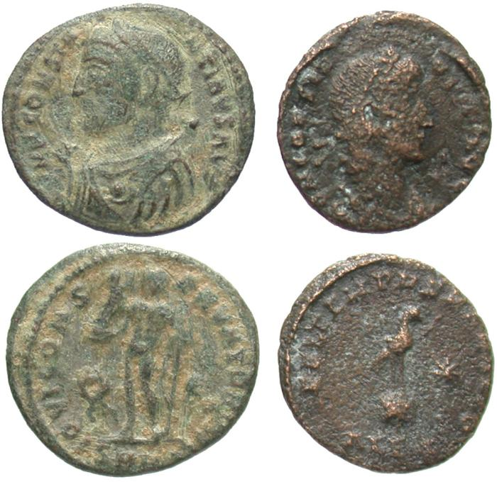 Ancient Coins - [Roman Imperial]. Lot of two Constantinian Æ.