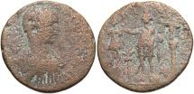 Ancient Coins - Phoenicia, Tyre. Elagabalus. A.D. 218-222. Æ. Fine, brown surfaces.