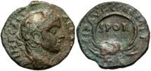 Ancient Coins - Samaria, Caesarea Maritima. Severus Alexander. A.D. 222-235. Æ. VF, dark green patina, pit on obverse.