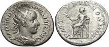 Ancient Coins - Gordian III. A.D. 238-244. AR double denarius. Rome, A.D. 241. VF, light porosity.