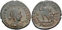 Ancient Coins - Valentinian II. A.D. 375-392. Æ. Nicomedia. Near VF, dark brown patina, earthen deposits.