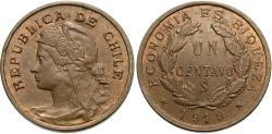 World Coins - Chile. 1919. 1 centavo. Unc.