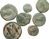 Ancient Coins - [Byzantine]. Lot of seven early Imperial Æ.
