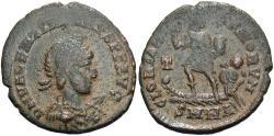 Ancient Coins - Valentinian II. A.D. 375-392. Æ. Nicomedia. Near VF, dark brown patina, earthen deposits.