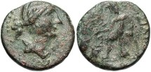 Ancient Coins - Seleukid Kingdom. Seleukos III Soter. 226-223 B.C. Æ 17 mm. Antioch on the Orontes. Near VF, brown patina.
