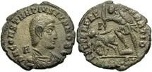 Ancient Coins - Constantius Gallus. Caesar, A.D. 351-354. Æ centenionalis. Siscia, A.D. 353. VF, golden green patina, some roughness.