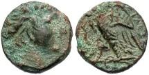 Ancient Coins - Ptolemaic Kingdom. Ptolemy I Soter. As King, 305-282 B.C. Æ. Alexandria. Near VF, green patina.