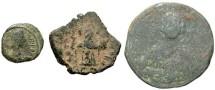 Ancient Coins - [Byzantine] Lot of three bronzes. Average Fair to Fine.