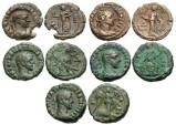 Ancient Coins - [Roman Egypt]. Lot of five Æ tetradrachms of Maximianus.