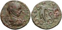 Ancient Coins - Phoenicia, Berytus. Elagabalus. A.D. 218-222. Æ. Fine, brown and green patina, some pitting.