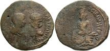 Ancient Coins - Mesopotamia, Singara. Gordian III, with Tranquillina. A.D. 238-244. Æ. Fine, brown surfaces.