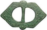 Ancient Coins - Medieval European. Engraved buckle frame. 8th-13th centuries
