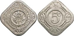 World Coins - Netherlands. 1936. 5 cents. Choice Unc.