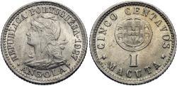 World Coins - Angola. 1927. 5 centavos. Unc.