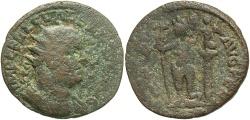 Ancient Coins - Phoenicia, Berytus. Valerian I. A.D. 253-260. Æ. Fine, green and brown patina.