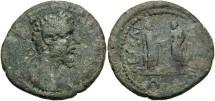 Ancient Coins - Asia Minor or Syria, Uncertain mint. Septimius Severus. A.D. 193-211. Æ. Near VF, dark green patina. Very rare.