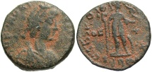 Ancient Coins - Honorius. A.D. 393-423. Æ. Rome, A.D. 404-423. Near VF, brown patina with light earthen deposits. Rare.