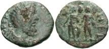 Ancient Coins - Syria, Coele-Syria. Heliopolis. Septimius Severus. A.D. 193-211. Æ. Near VF, green patina, roughness on obverse.