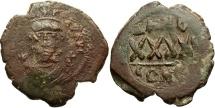Ancient Coins - Phocas. 602-610. Æ follis. Constantinople. Near VF, brown patina.