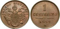 World Coins - Italian States, Lombardy-Venetia. 1852-M. 1 centesimo. Unc.