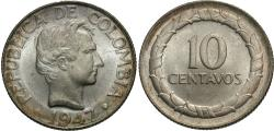 World Coins - Colombia. 1947-B. 10 centavos. BU.
