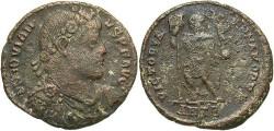 Ancient Coins - Jovian. A.D. 363-364. Æ maiorina. Antioch. Fine, rough brown patina.