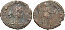 Ancient Coins - Honorius. A.D. 393-423. Æ. Fine, brown patina.