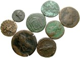 Ancient Coins - [Roman Provincial]. Lot of eight Æ. Fair to Fine, the tetradrachm with extensive bronze disease (should be treated).