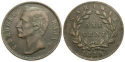 World Coins - Sarawak. C. Brooke. 1889-H. 1 cent. VF.