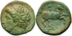 Ancient Coins - Macedonian Kingdom. Philip II. 359-336 B.C. ' unit. Uncertain mint in Macedonia. VF, light green patina.