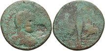 Ancient Coins - Phoenicia, Aradus. Caracalla. A.D. 198-217. Æ. Near Fine, green patina. Rare type.