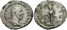 Ancient Coins - Philip I. A.D. 244-249. AR double denarius. Rome, A.D. 246. VF, porosity.