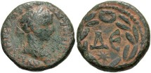Ancient Coins - Syria, Seleucis and Pieria. Antiochia ad Orontem. Elagabalus. A.D. 218-222. Æ as. VF, green patina with earthen deposits.