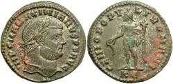 Ancient Coins - Maximianus. A.D. 286-305/08/10. Æ follis. Cyzicus, ca. A.D. 295-296. Good VF, minor encrustation.