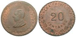 World Coins - Mexico (Revolutionary), Oaxaca. 1915. 20 centavos. AU.