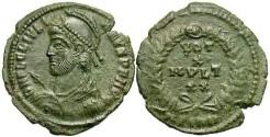 Ancient Coins - Julian II. A.D. 360-363. Æ. Sirmium, A.D. 361-363. Good VF, green patina, reverse a touch softly struck.