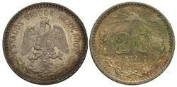 World Coins - Mexico, United States of Mexico. 1905. 20 centavos. AU, minor deposits on reverse.