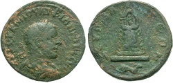 Ancient Coins - Syria, Commagene. Zeugma. Philip II. A.D. 247-249. Æ. Good Fine, green patina with some underlying surface showing.