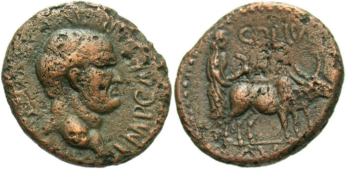 Ancient Coins - Phoenicia, Berytus. Vespasian. A.D. 69-79. Æ. VF, coppery brown surfaces, moderate porosity. Good strike for the issue.