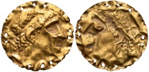 Ancient Coins - Hellenistic Phoenicia. Ca. 280-250 B.C., or later Gold appliqué.
