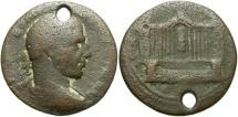 Ancient Coins - Syria, Coele-Syria. Heliopolis. Philip I. A.D. 244-249. Æ. Fine, brown patina, pierced.