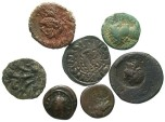 Ancient Coins - [Miscellaneous] Lot of six unidentified coins, ancient Greek to medieval England. Average Fine to VF.