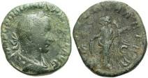 Ancient Coins - Gordian III. A.D. 238-244. Æ sestertius. Rome, A.D. 244. Fine, green patina, light earthen deposits.
