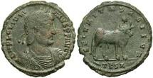 Ancient Coins - Julian II. A.D. 360-363. Æ maiorina. Thessalonica. VF, dark green patina with red-brown deposits.