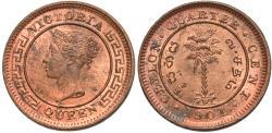 World Coins - Ceylon. Victoria. 1901. 1/4 cent. BU.