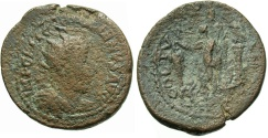 Ancient Coins - Phoenicia, Tyre. Gallienus. A.D. 253-268. Æ. Fine, rough brown patina.