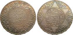 World Coins - Morocco. AH 1321. 1/2 rial (5 dirhams). AU, iridescent toning.