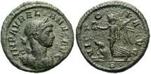 Ancient Coins - Aurelian. A.D. 270-275. Æ denarius. Rome, A.D. 275. VF, green patina, minor roughness.